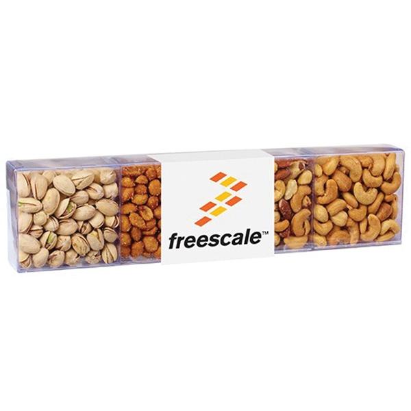 4 Way Selection - Large 4-way nut sensation selection.