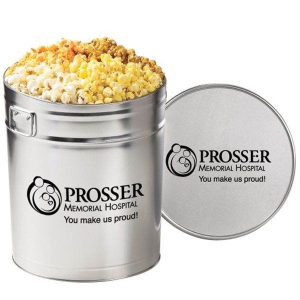 4 Way Popcorn Tin / 6.5 Gallon