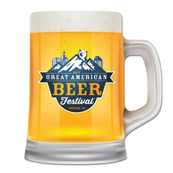 Beer Mug Shape Full Color Magnet