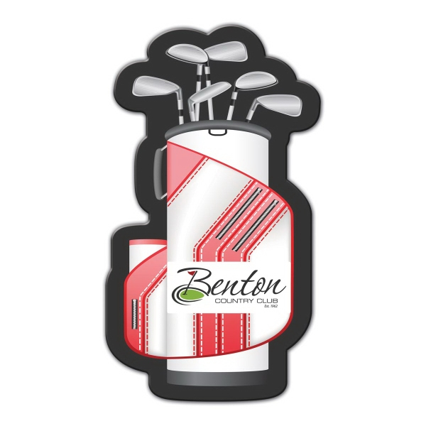 Golf Bag Shape Full Color Magnet