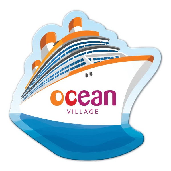 Cruise Ship Shape Full Color Magnet