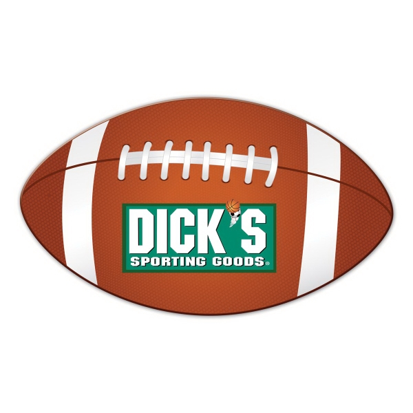 Football Shape Full Color Magnet