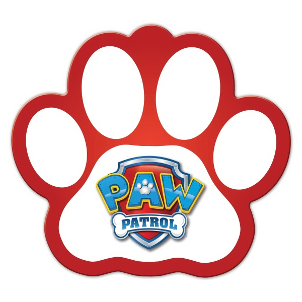 Paw Print Shape Full Color Magnet