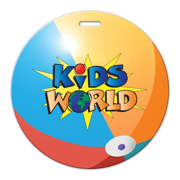 Full Color Luggage Tag - Beach Ball