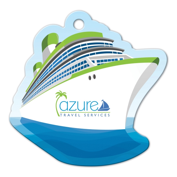 Full Color Luggage Tag - Cruise Ship