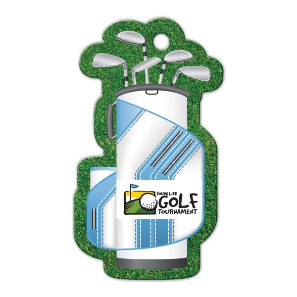 Full Color Luggage Tag - Golf Bag