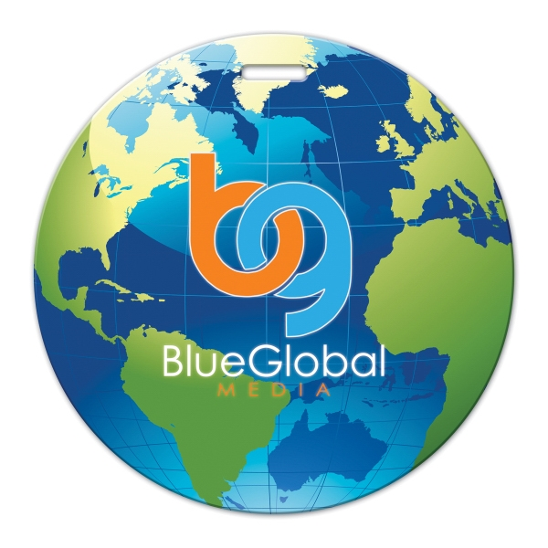 Full Color Luggage Tag - Globe