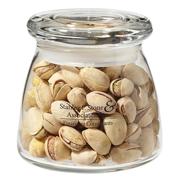 Glass Vibe Jar with pistachios