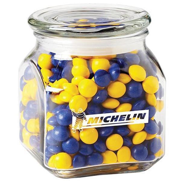 Contemporary Glass Jar / Chocolate Buttons