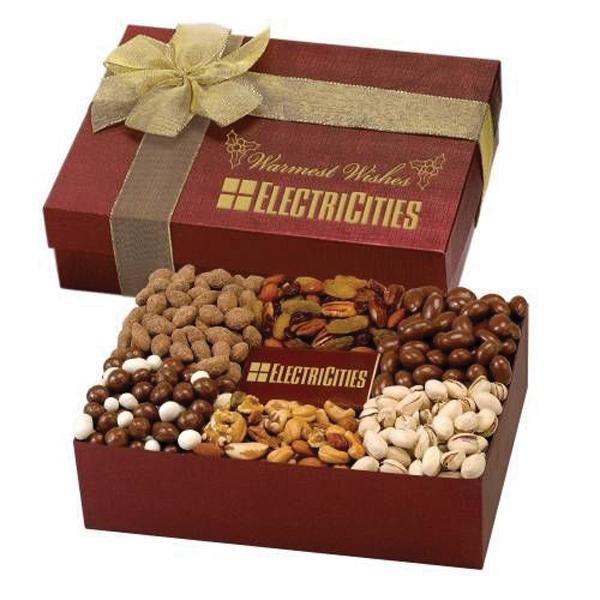 6 Way Deluxe Gift Box w/Chocolate Bar -  Elegant Indulgence