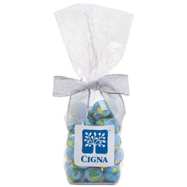 Elegant Mug Stuffer Bag / Chocolate Earth Balls (6.9 oz)