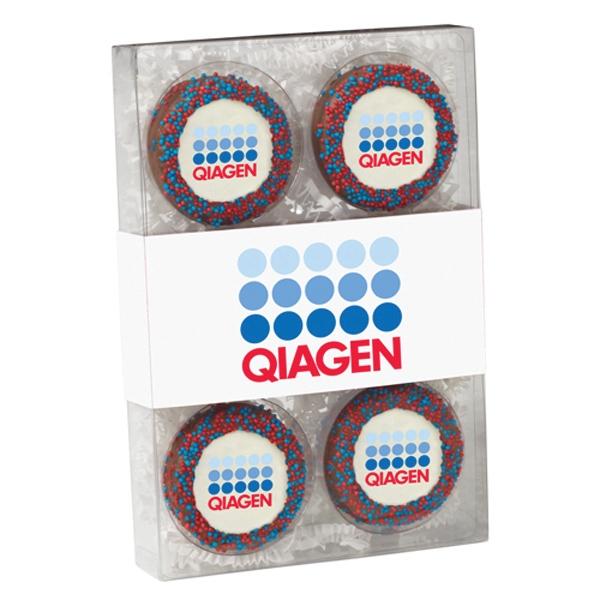 6 Pack Elegant Chocolate Covered Oreo Gift Box w/ Cookies