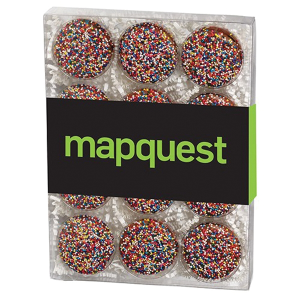 12 Pack Elegant Chocolate Covered Oreo® Gift Box