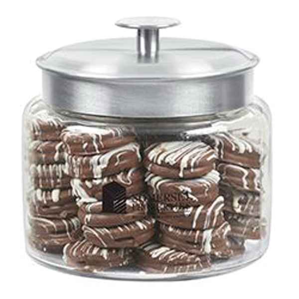 48 oz Glass Cookie Jar With Chocolate Covered Oreos