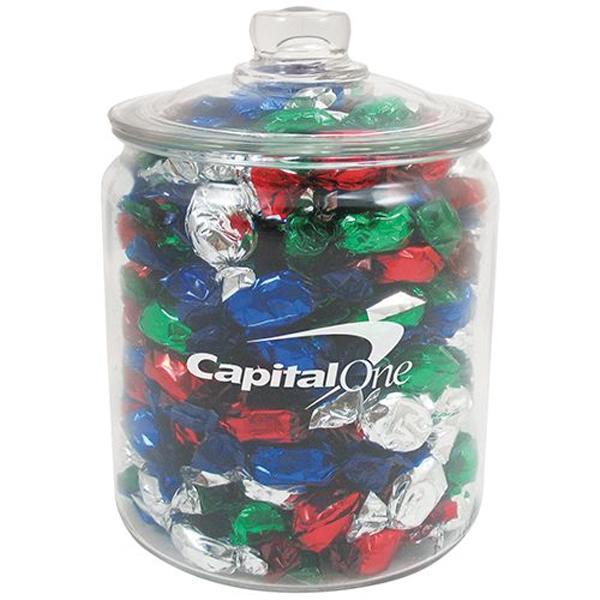 Half Gallon Glass Jar / Foil Wrapped Hard Candies