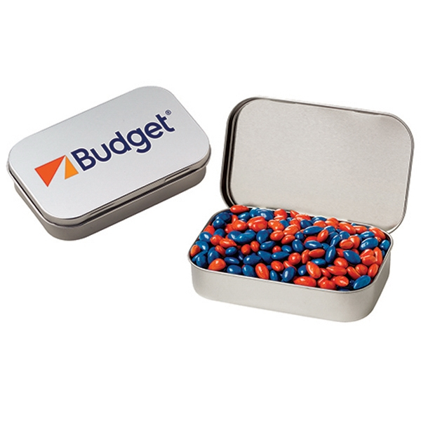 Large Hinged Tin/Chocolate Covered Sunflower Seeds