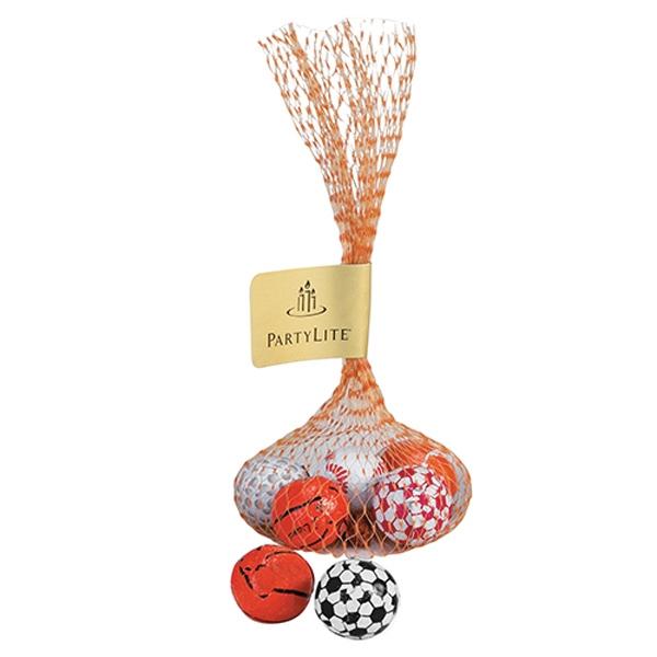 Mesh Bag with 5 Chocolate Sports Balls