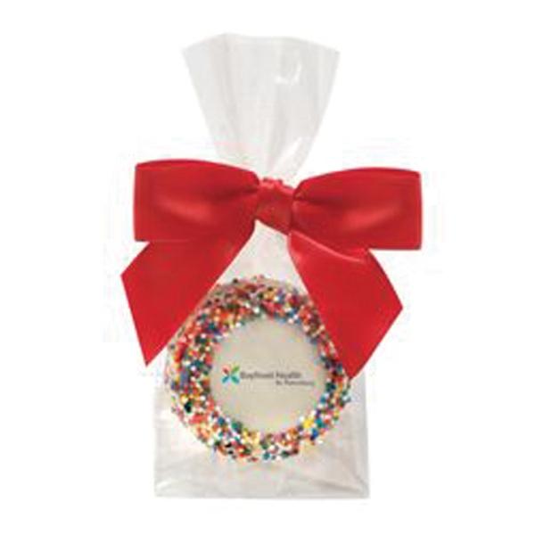 Favor Bag w/ Chocolate Covered Oreo Pop w/ Rainbow Sprinkles