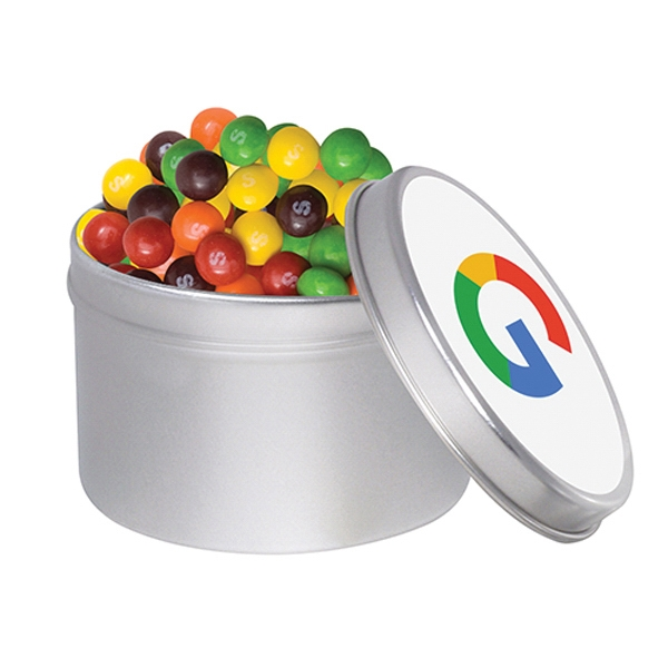1/4 Quart Round Tin / Skittles®