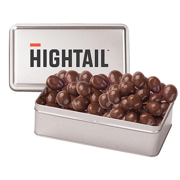 Large Rectangle Tin / Chocolate Almonds