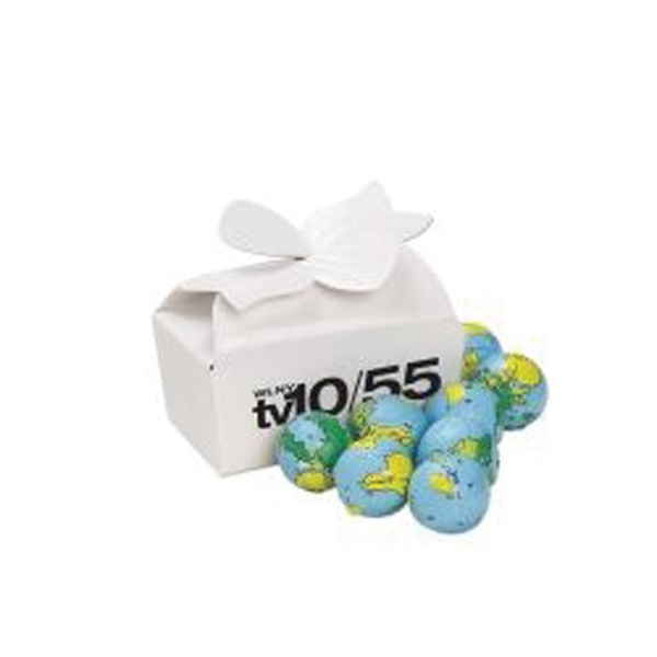 Small Bow Gift Box / Chocolate Earth Balls