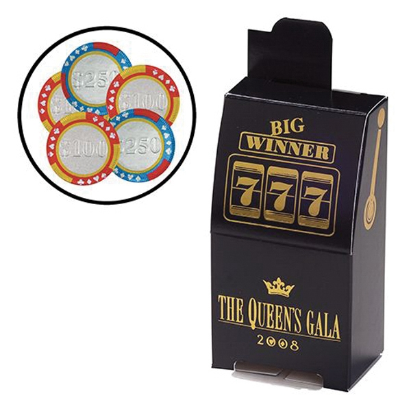Slot Machine Box / Poker Chips (5)