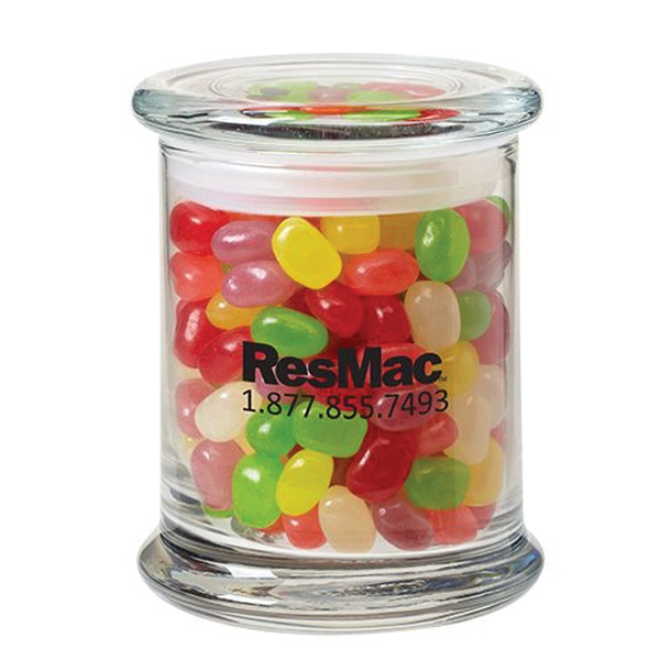 11 oz. Jelly Beans in Glass Status Jar