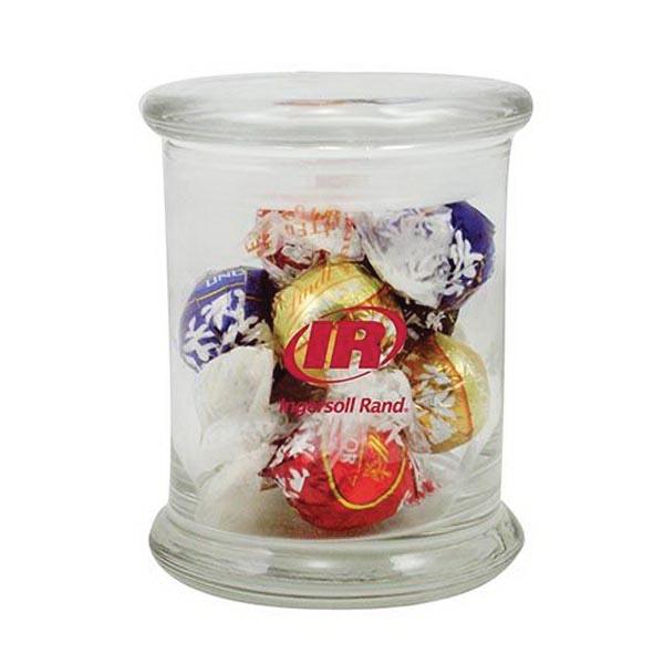 10 Lindt Truffles in Glass Status Jar
