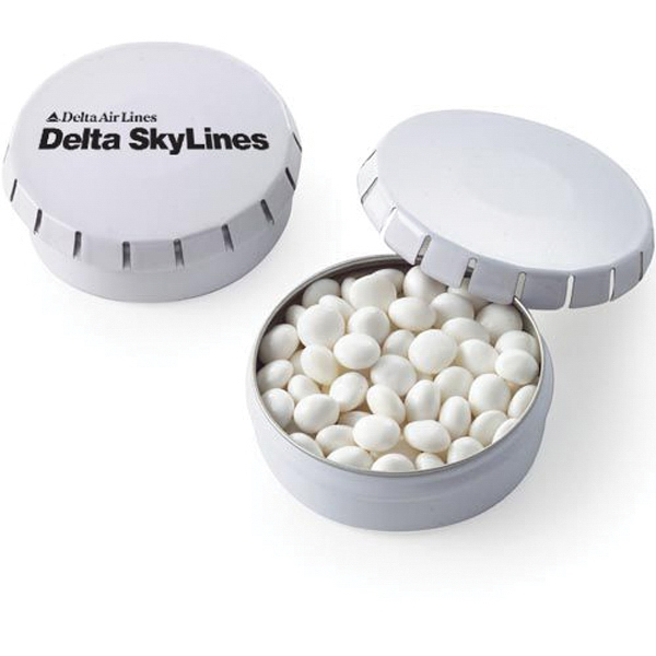 Push top Tin with White Mints - Small