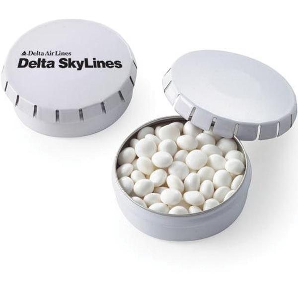 Push top Tin with White Mints - Mini