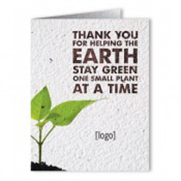 Earth Day Seed Paper Greeting Card: 11 Stock Designs