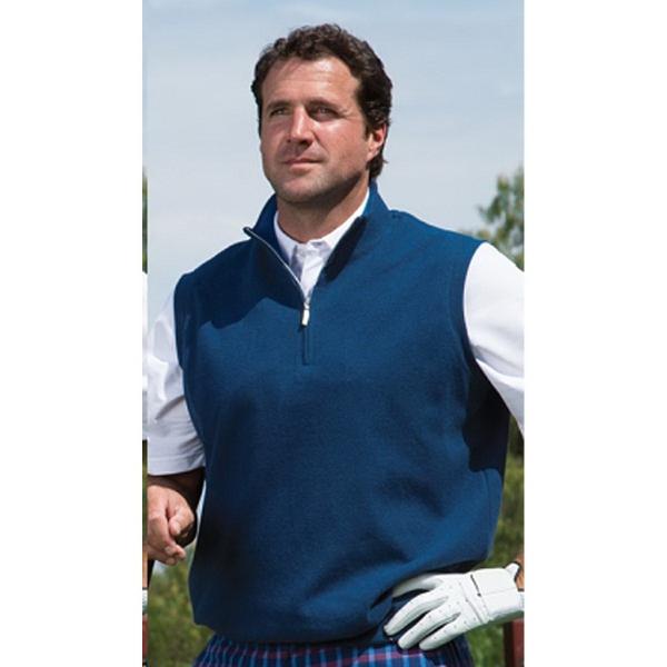 Carnoustie Cotton Suedes Interlock, 1/4 Zip Vest
