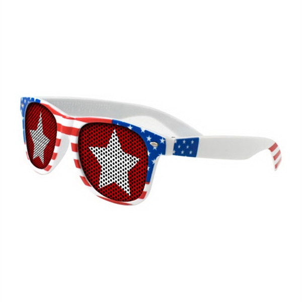 Lenstek USA Patriotic Miami Sunglasses