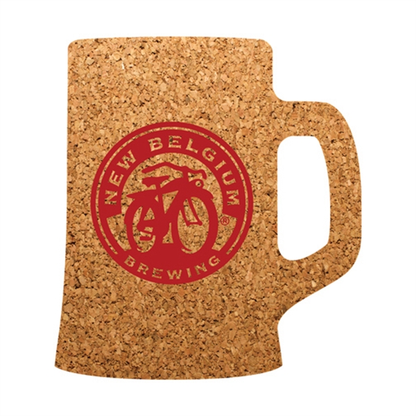 Beer Mug Shaped Cork Coaster
