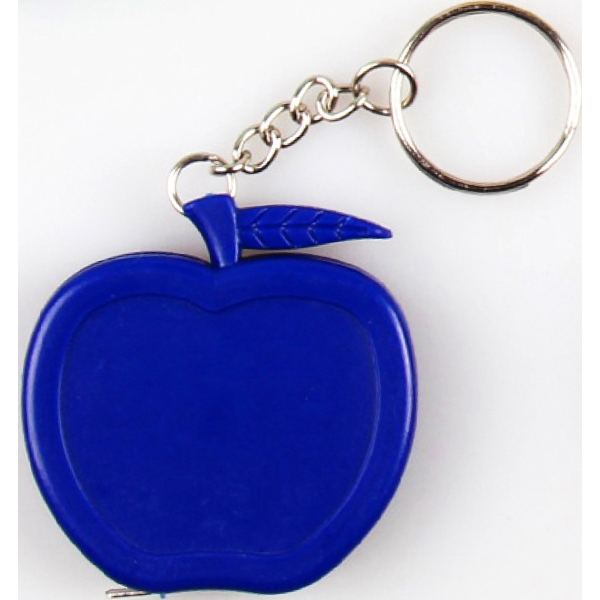 Apple shape tape measure key chain