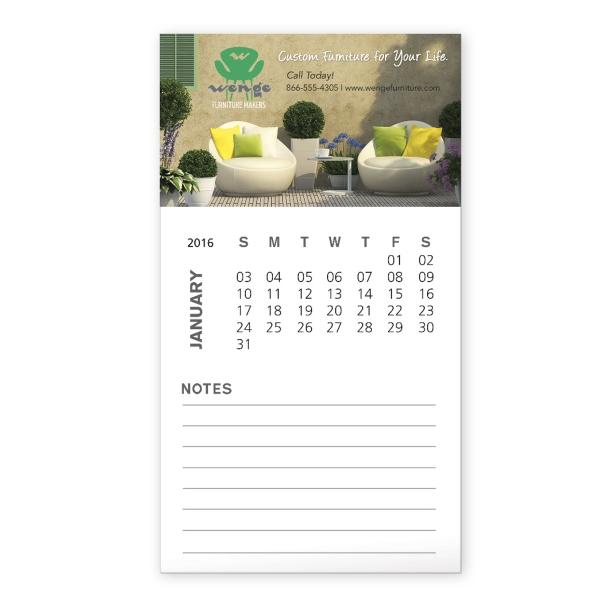 30 mil Business Card Magnet and 12 Sheet Calendar