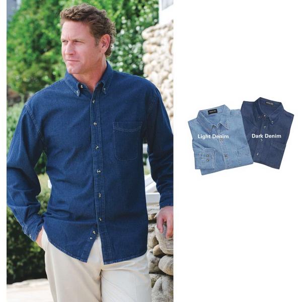 Jonathan Corey® Long Sleeve Denim Shirt