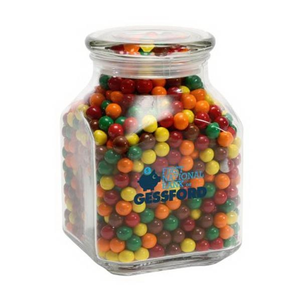 Sixlets in Large Glass Jar - Large Glass Jars Filled With Sixlets