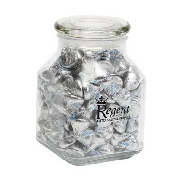 Hershey kisses in Large Glass Jar