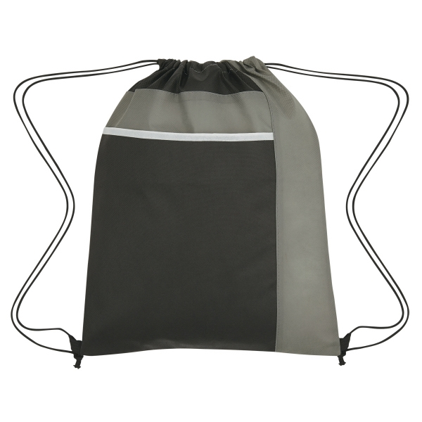 Drawstring Pack with Large Front Pocket
