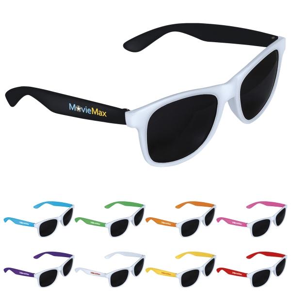 Two-Tone White Frame Sunglasses