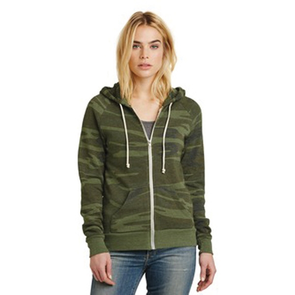 Alternative Adrian Eco-Fleece Zip Hoodie.