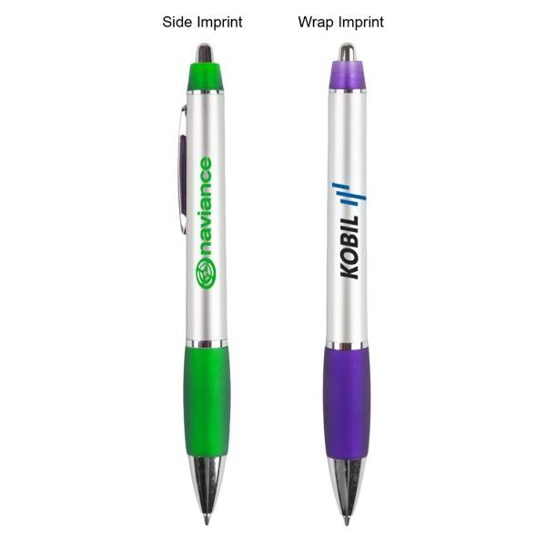 The Kefalonia Pen - Silver barrel ballpoint pen.