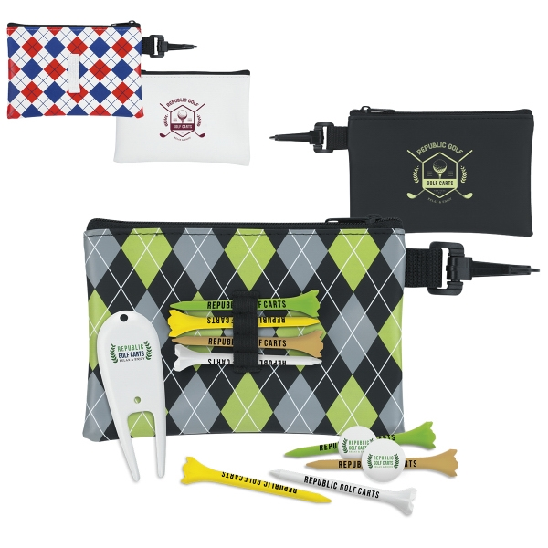 Pattern Golf Pouch Tee Kit - 2 3/4""