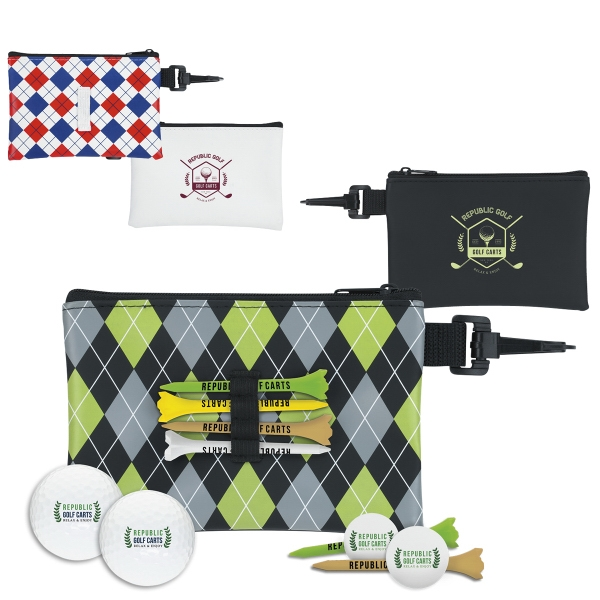 Pattern Golf Pouch Event Kit