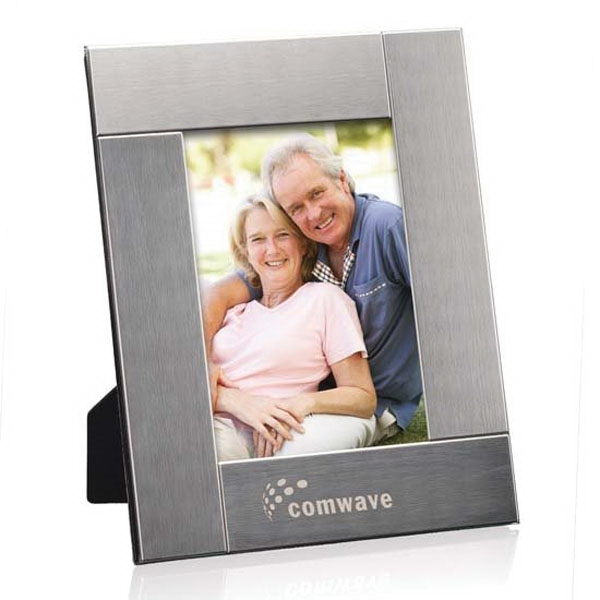"""Cirque Frame - Brushed Stainless Steel 4""""x6"""""""