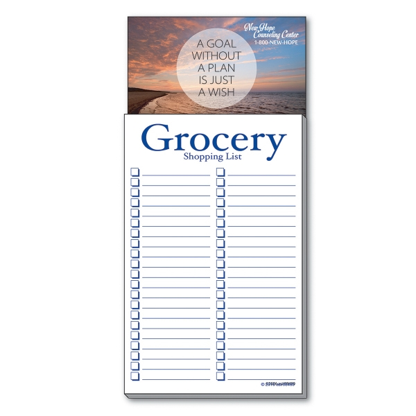 Business Card Add-On™ Magnet + Grocery Shopping List Pad