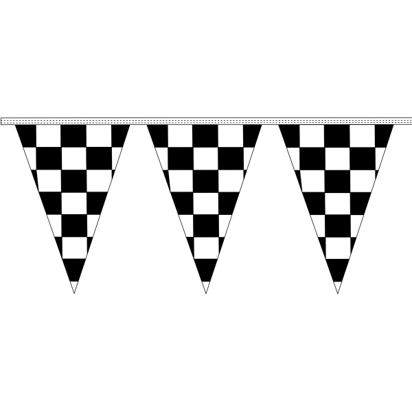 30' Checkered Pennant Strings