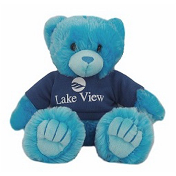 """9"""" Blue Peter Bear with t-shirt and one color imprint"""