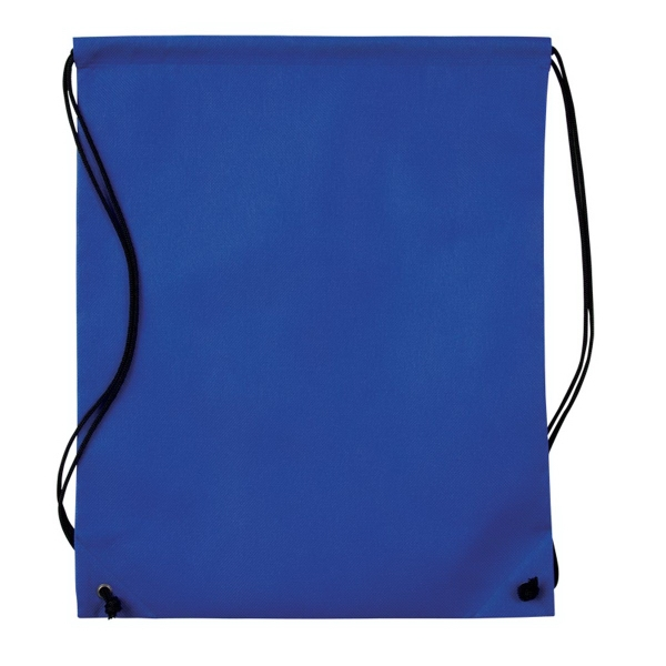 Nonwoven Drawstring Cinch-Up Backpack - Non-woven cinch up backpack with adjustable drawstring straps